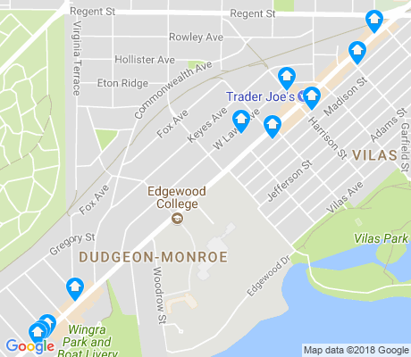 map of Dudgeon - Monroe apartments for rent