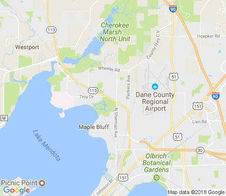 map of East Bluff apartments for rent