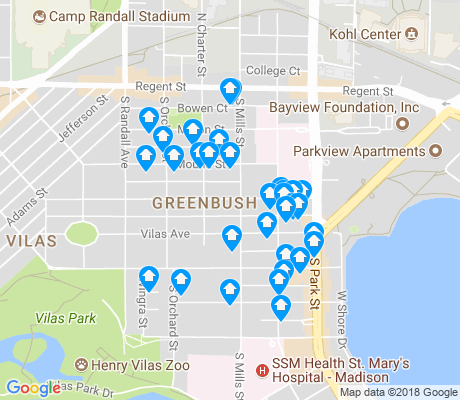 map of Greenbush apartments for rent