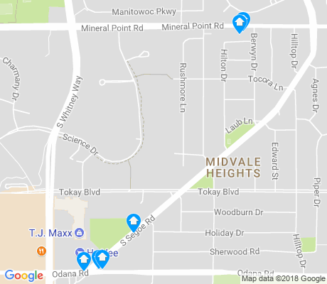 map of Midvale Heights apartments for rent