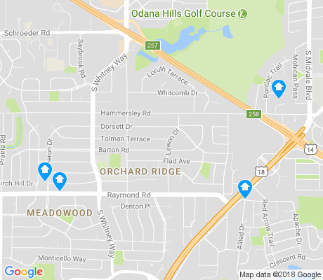 map of Orchard Ridge apartments for rent