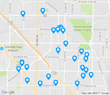 map of 53218 apartments for rent