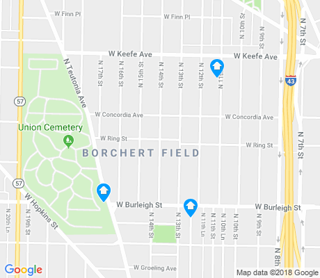 map of Borchert Field apartments for rent