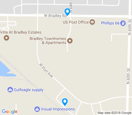 map of Bradley Estates apartments for rent