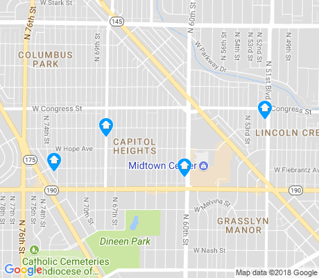 map of Capitol Heights apartments for rent
