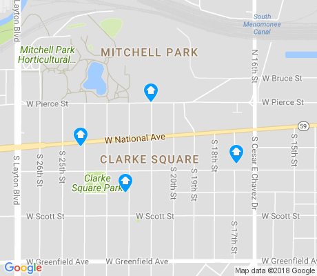 map of Clarke Square apartments for rent