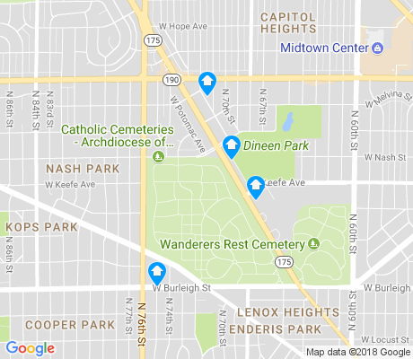 map of Dineen Park apartments for rent