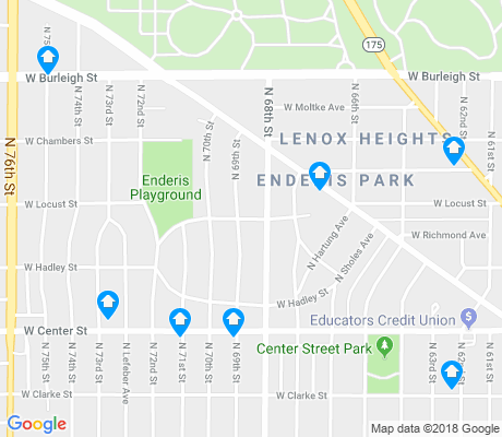 map of Enderis Park apartments for rent