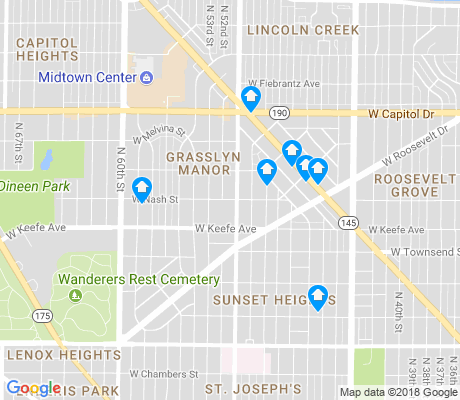 map of Grasslyn Manor apartments for rent