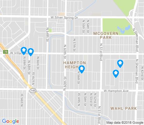 map of Hampton Heights apartments for rent