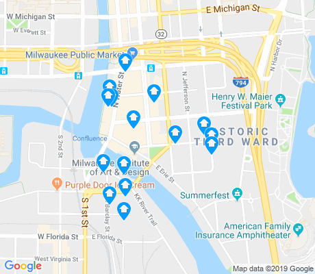 map of Historic Third Ward apartments for rent