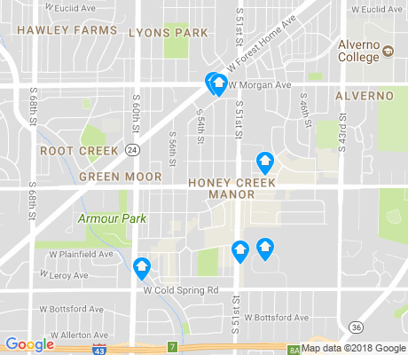 map of Honey Creek Manor apartments for rent