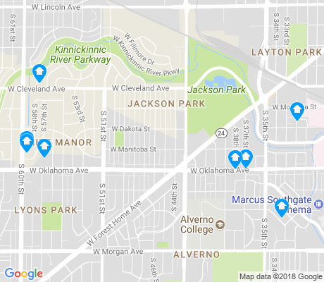 map of Jackson Park apartments for rent