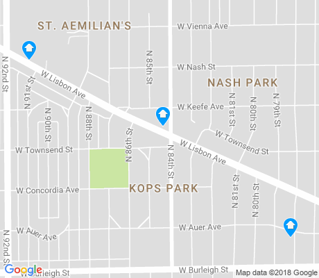map of Kops Park apartments for rent