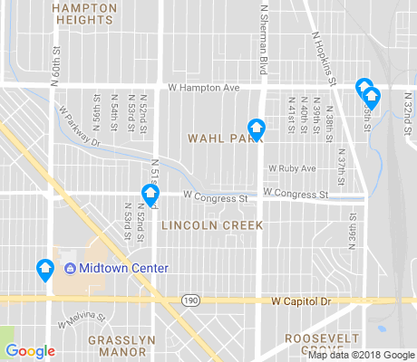 map of Lincoln Creek apartments for rent