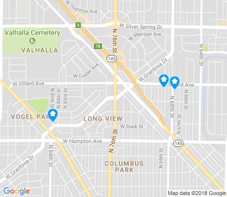 map of Long View apartments for rent