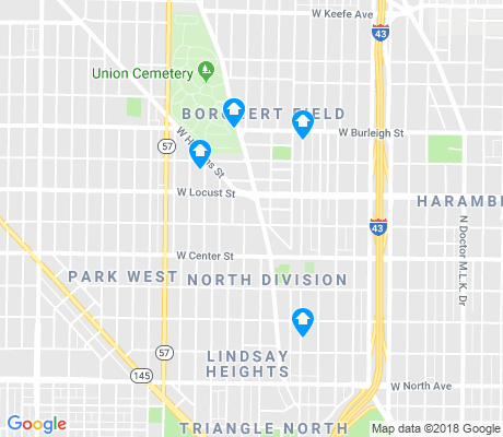 map of North Division apartments for rent