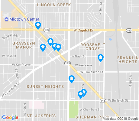 map of Roosevelt Grove apartments for rent