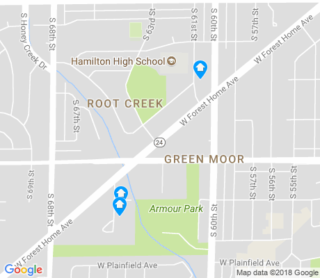 map of Root Creek apartments for rent