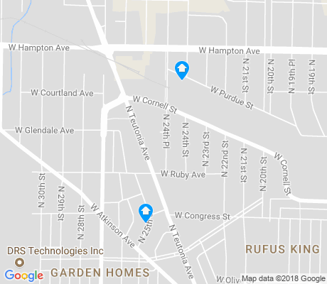 map of Rufus King apartments for rent