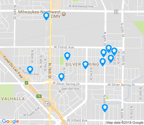 map of Silver Spring apartments for rent