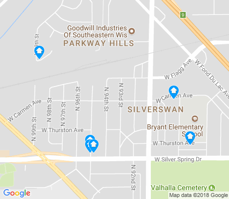 map of Silverswan apartments for rent