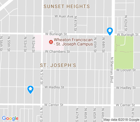 map of St. Joseph's apartments for rent