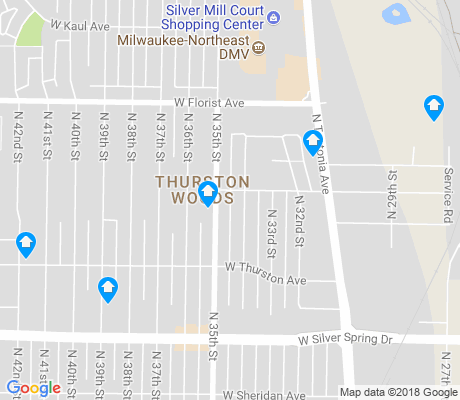 map of Thurston Woods apartments for rent