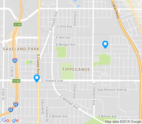 map of Tippecanoe apartments for rent