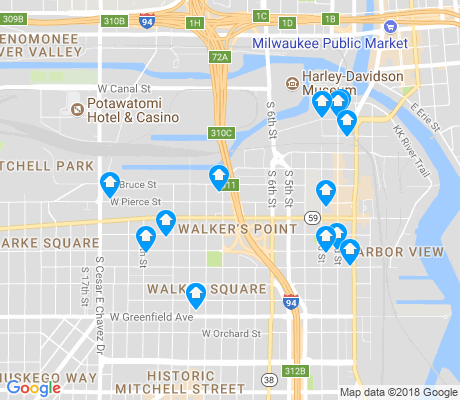 map of Walker's Point apartments for rent