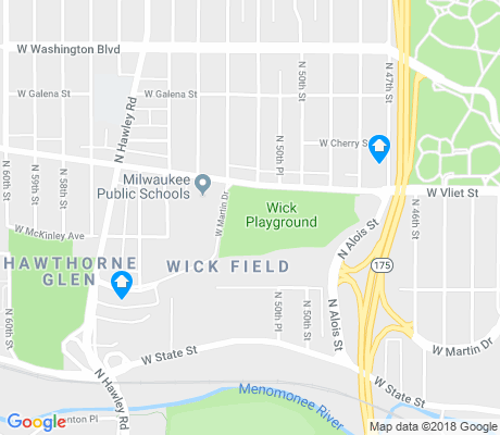 map of Wick Field apartments for rent