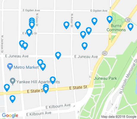 map of Yankee Hill apartments for rent