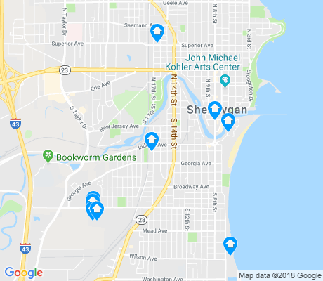 map of Sheboygan apartments for rent