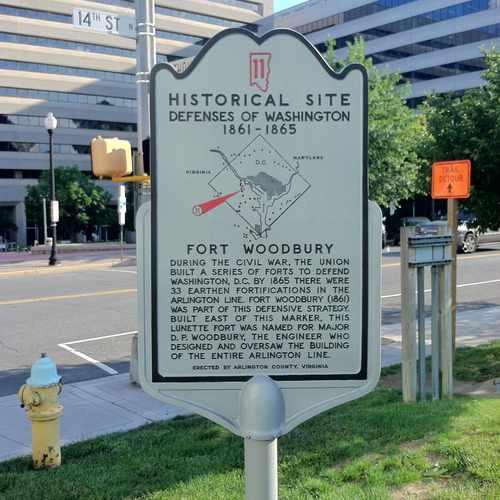 photo of Fort Woodbury Historical Sign at 1276 North Wayne Street Arlington VA 22201