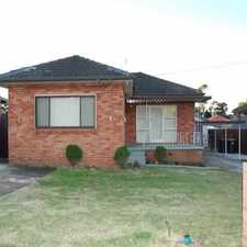 Rental info for NEAT & TIDY IN QUIET LOCATION in the Sydney area