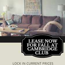 Rental info for Cambridge Club Apartments