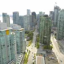 Rental info for Bayview at Coal Harbour in the Downtown area