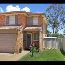 Rental info for Freshly painted 3 Bedroom townhouse in the Blacktown area