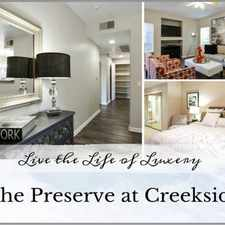 Rental info for The Preserve at Creekside