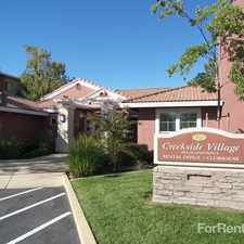 Rental info for Creekside Village Senior Apartments in the Sacramento area