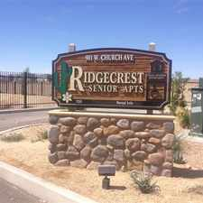 Rental info for Ridgecrest Senior Apartments