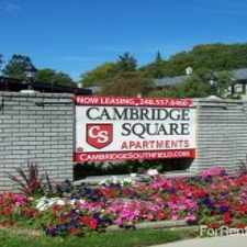 Rental info for Cambridge Square Apartments