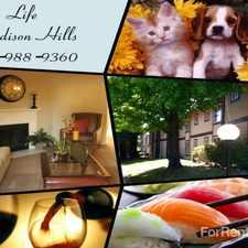 Rental info for Madison Hills