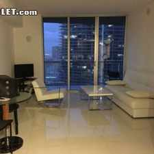 Rental info for One Bedroom In Brickell Avenue in the Miami area