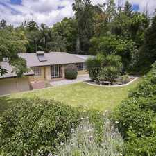 Rental info for Beautiful Family Home in the Lesmurdie area