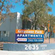 Rental info for Greystone Park Apartments in the Las Vegas area