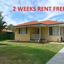 Rental info for COSY 3 BEDROOM HOME - Price Reduced PLUS 2 WEEKS RENT FREE - BE QUICK