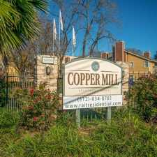Rental info for Copper Mill in the Austin area