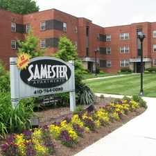 Rental info for Samester Apartments in the Baltimore area