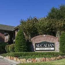 Rental info for Arcadian Sugar Land in the Houston area